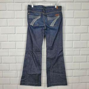 7 FOR ALL MANKIND DOJO Wide Leg Jeans A8-12